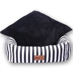 Classic Luxury Striped Dog Bed