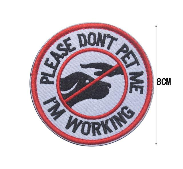 "Service Dog ""Do Not Touch""/""Working Dog"" Patches"
