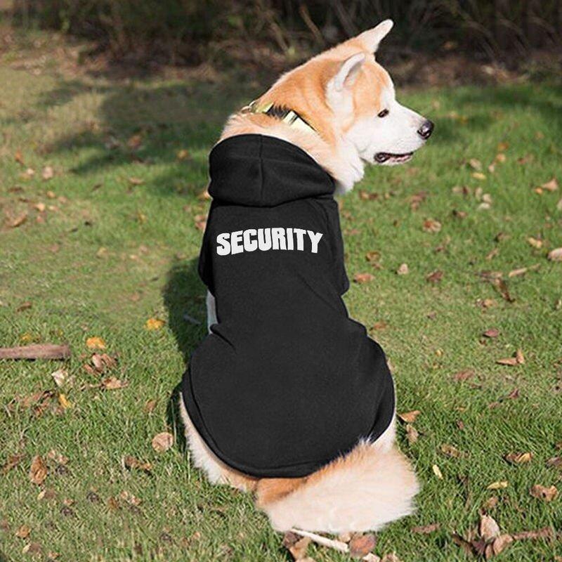 """""""SECURITY"""" Dog Hoodie – Black"""