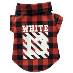 Woof-White Flannel Dog Shirt