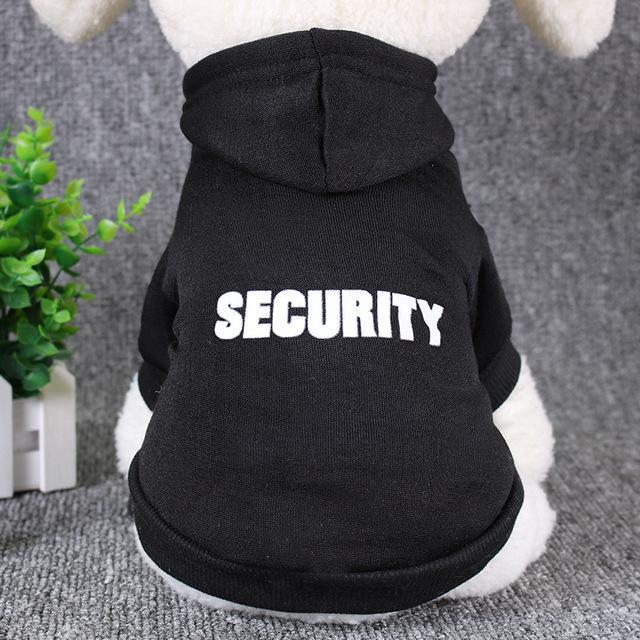 """""""SECURITY"""" Dog Hoodie"""