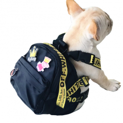 Woof-White Dog Backpack