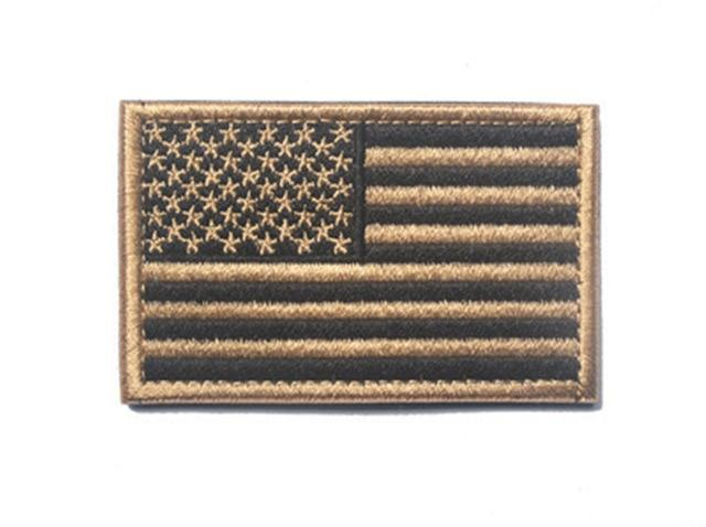 Embroidered US Flag Dog Patches