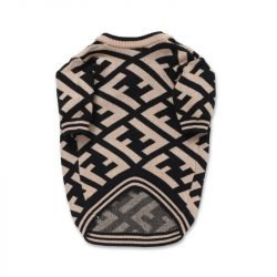 Fur Baby Diagonal Print Dog Sweater
