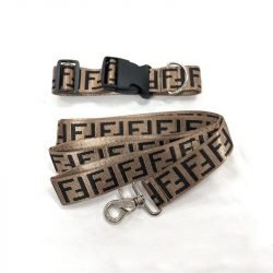 Fur Baby Coffee Collar and Leash Set