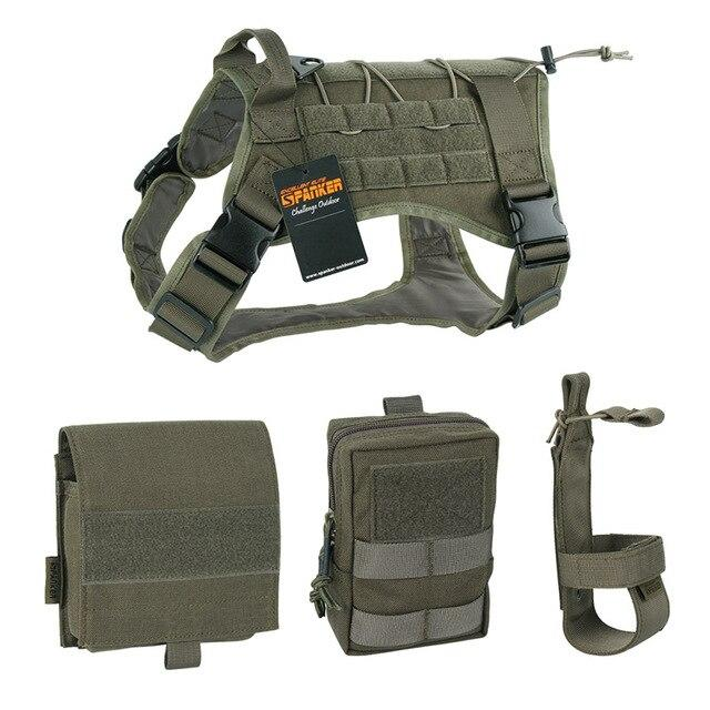 500D 3 Pouch MOLLE Tactical Dog Harness