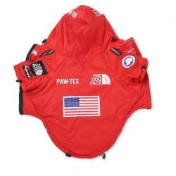 Insulated Dog Face Windbreaker - Red