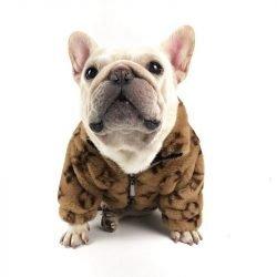 Chewy V Faux Fur Dog Jacket