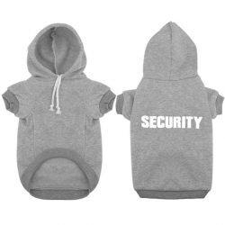 """SECURITY"" Dog Hoodie – Gray"