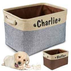 Charlie's Personalized Dog Toy Basket