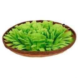 Green Bowl Dog Snuffle Mat