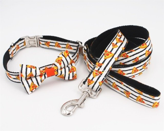 Personalized Pupperoni Bow Tie Dog Collar