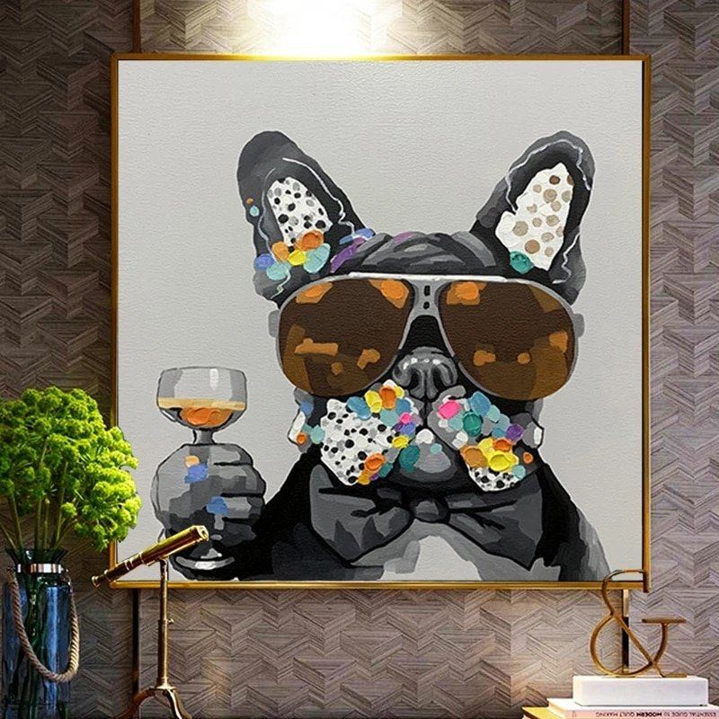 """Frenchie """"Toast"""" Canvas Print"""