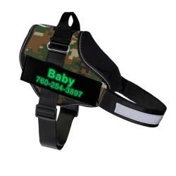 Fido's Personalized No Pull Dog Harness – Green Camouflage