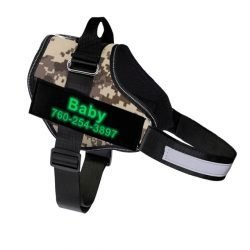 Fido's Personalized No Pull Dog Harness – Desert Camouflage
