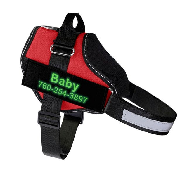Fido's Personalized No Pull Dog Harness – Red