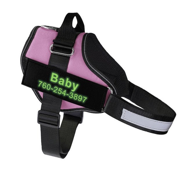Fido's Personalized No Pull Dog Harness – Pink