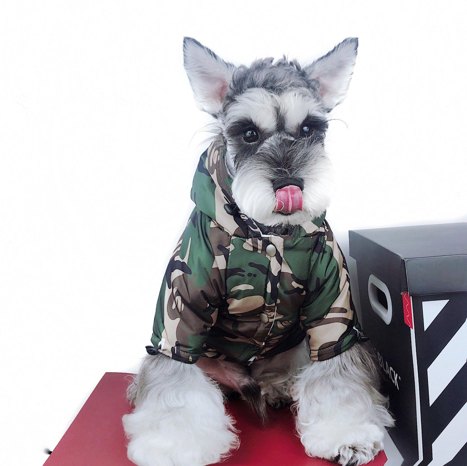 Barking Pup Camo Puffer Dog Coat